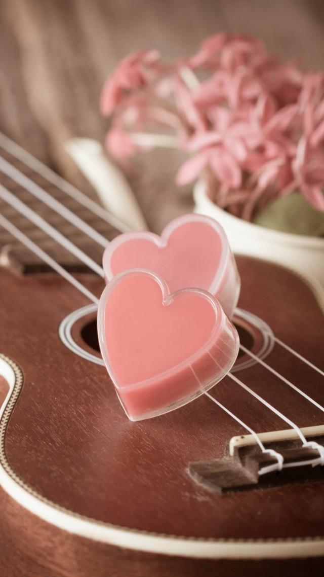 Wallpaper Valentines Day Heart Guitar Romantic