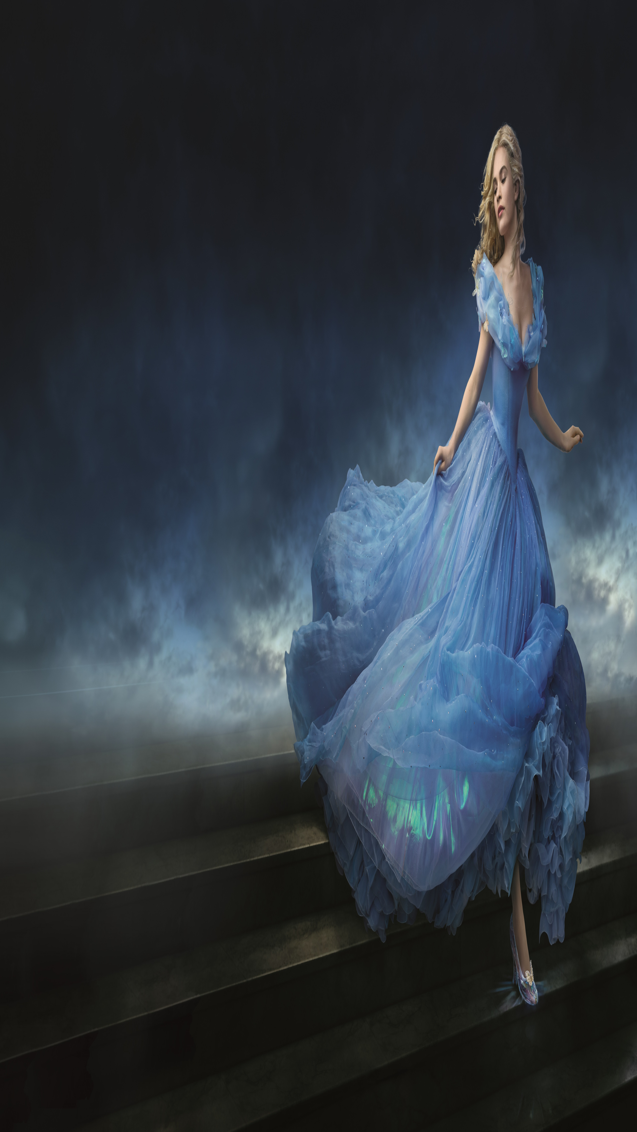 Wallpaper Cinderella, 2015, movie, film, romantic, blue