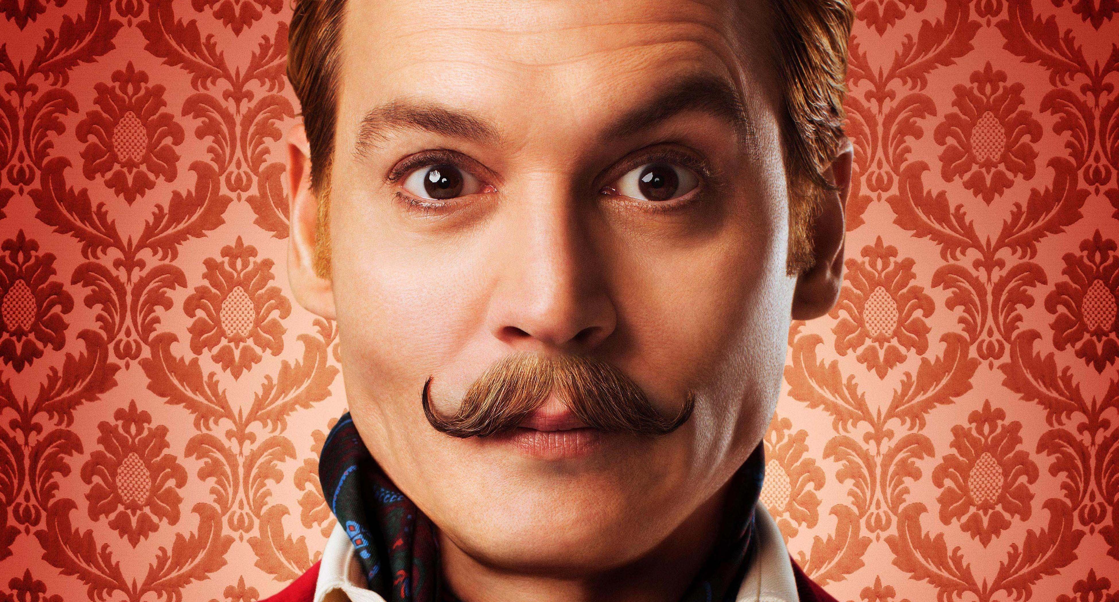Wallpaper Mortdecai 2015 Film Movie Red Johnny Depp